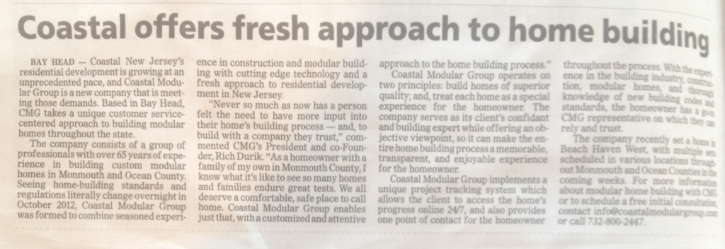 NJ Modular Home Asbury Park Press